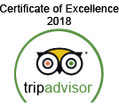 Tripadvisor - Certificate of Excellence 2018